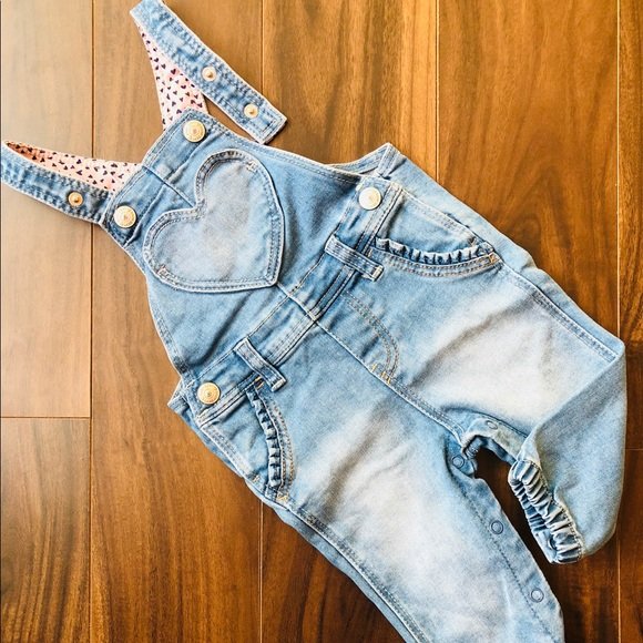 5b426cb77de Baby Gap Other - H M Baby Girl s Light Blue Jean Jumpsuit Overall